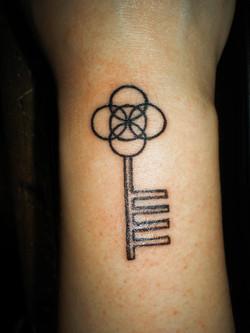 Small wrist key.
