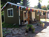 This is the Shop, behind my home, with easy access off aleey to an Olympia Washington tattoo artist