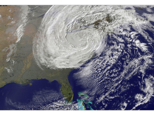 Hurricane Sandy: An opportunity to reorganize.