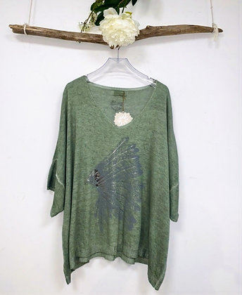 Blouse oversize Plume Indien
