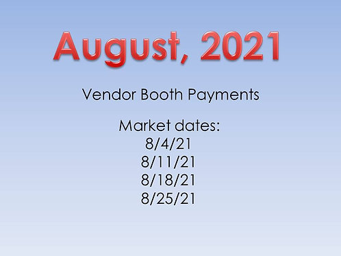 August, 2021 - Vendor Booth Payment