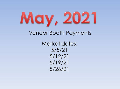 May 2021 - Vendor Booth Payment