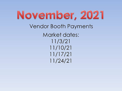 November 2020 Vendor Booth Payment