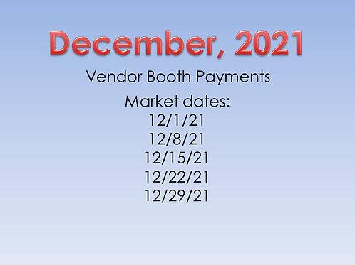 December 2021 Vendor Booth Payment