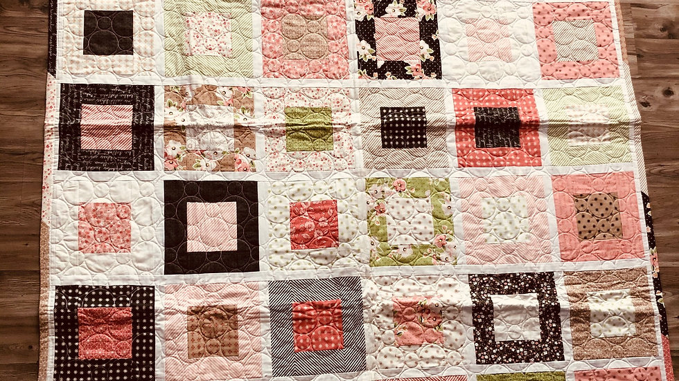 Pink * Square in a Square Quilt