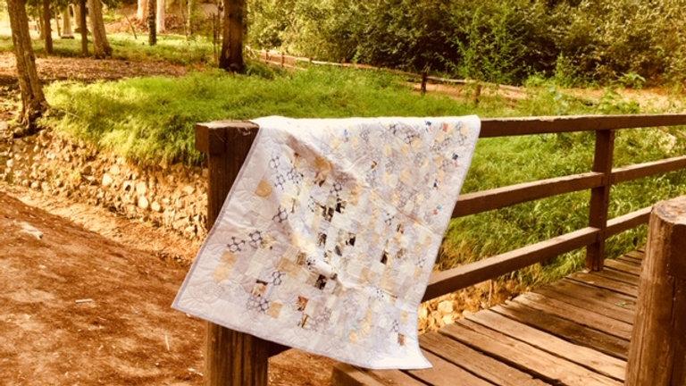 White Postage Stamp Quilt