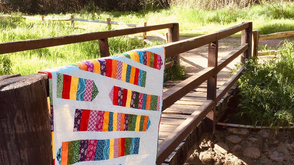 Multi-colored pencil quilt