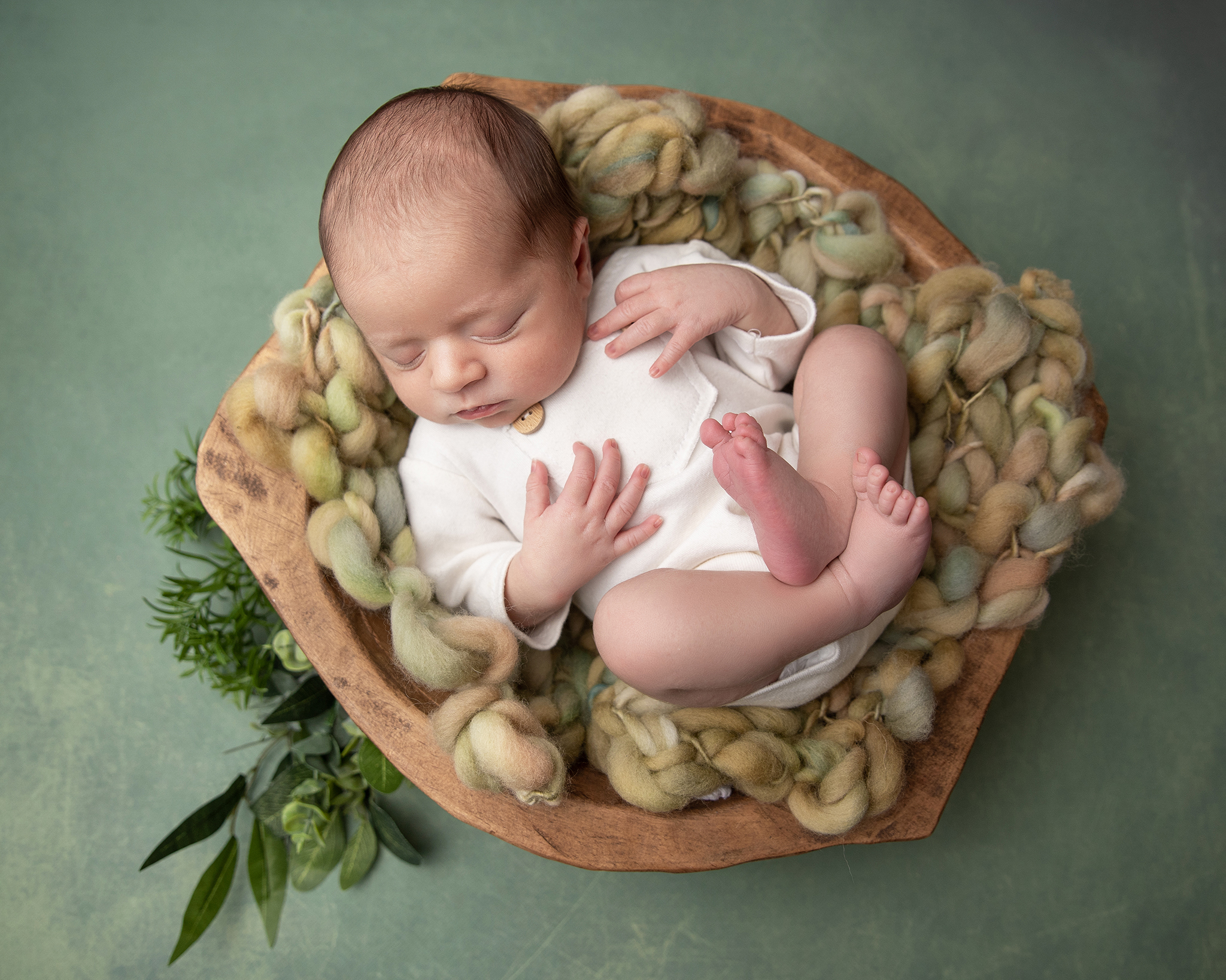 newborn-photographer-ottawa-green-set