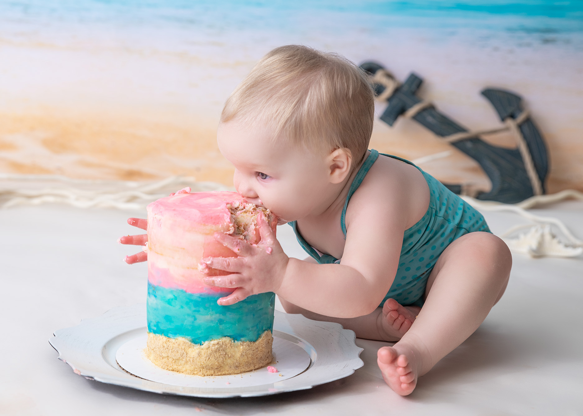 1st_birthday_cake_smash_nautical_theme