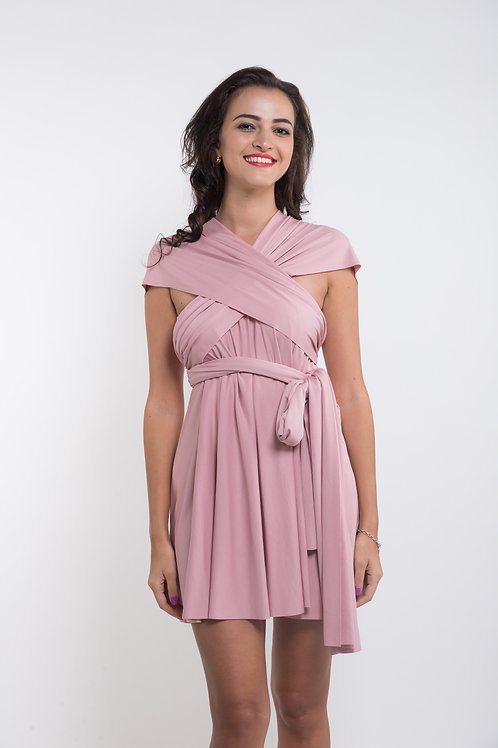 Convertible Dress - Dusty Pink