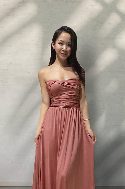 Convertible Dress - Cinnamon Rose