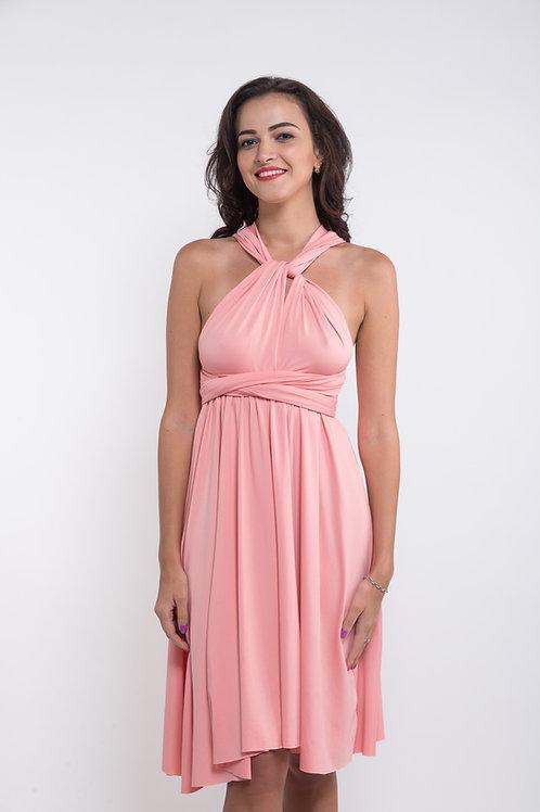 Convertible Dress - Peach