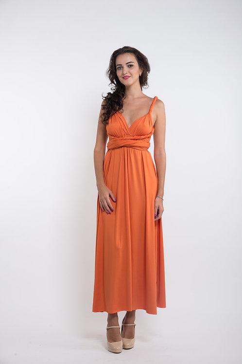 Convertible Dress - Tangerine