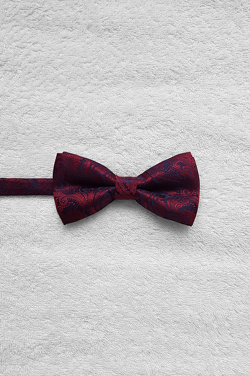 Navy Red Victorian Bow Tie