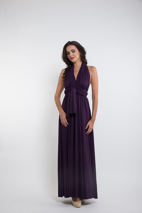 Convertible Dress - Eggplant Purple