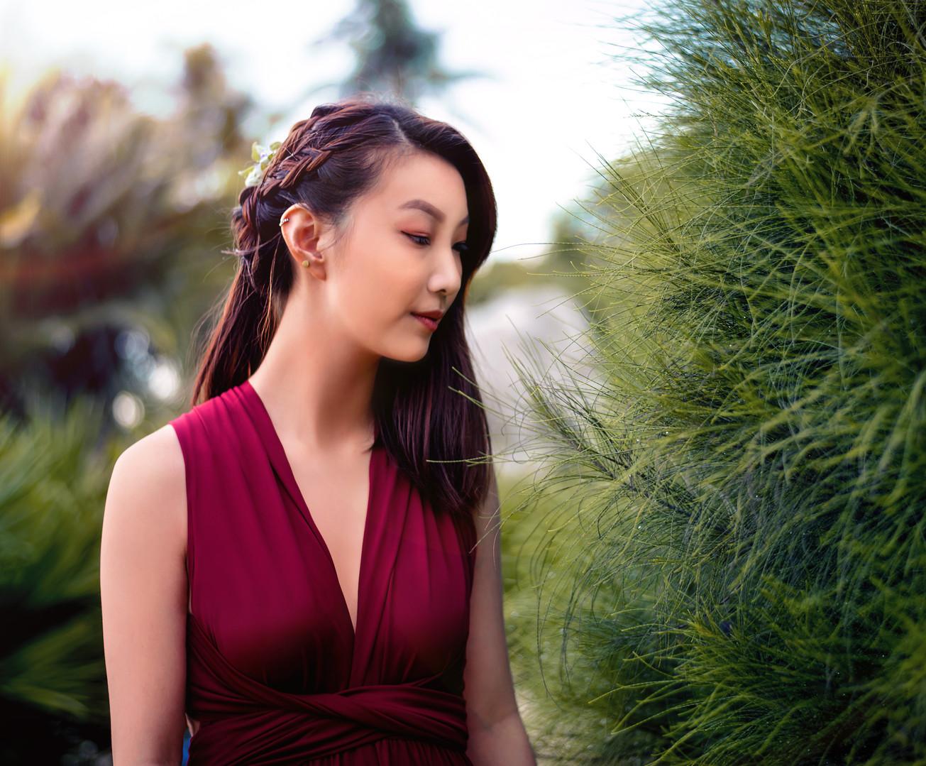 My Little Bow Singapore Burgundy Convertible Dress
