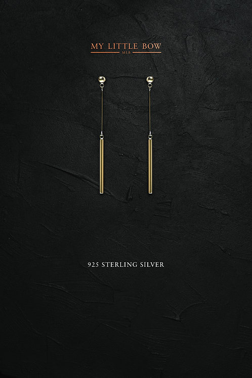 Gold drop earrings in sterling silver