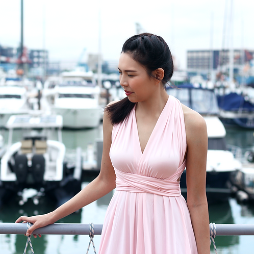 Convertible Dress - Blush Pink