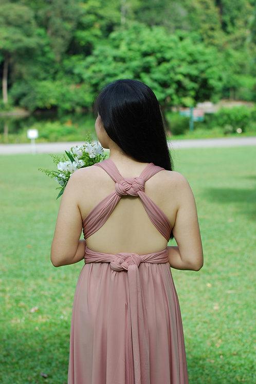 Convertible Dress - Dusty Rose