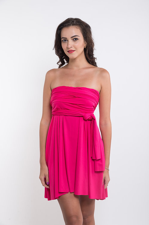 Convertible Dress - Magenta