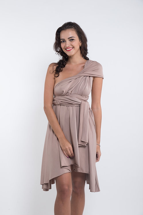 Convertible Dress -Taupe