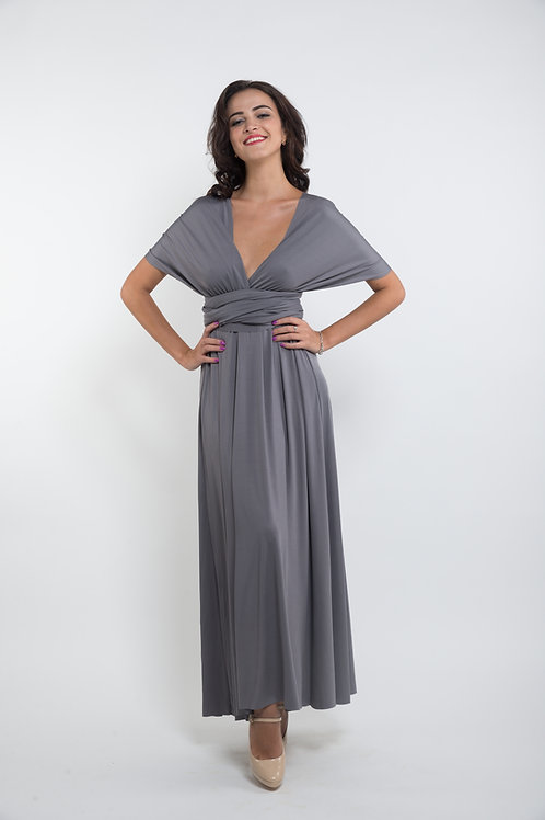 Convertible Dress - Charcoal