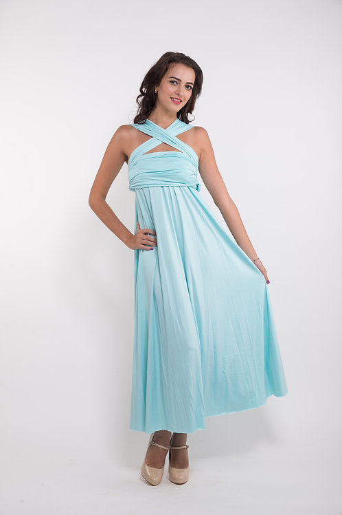 Convertible Dress - Tiffany Blue