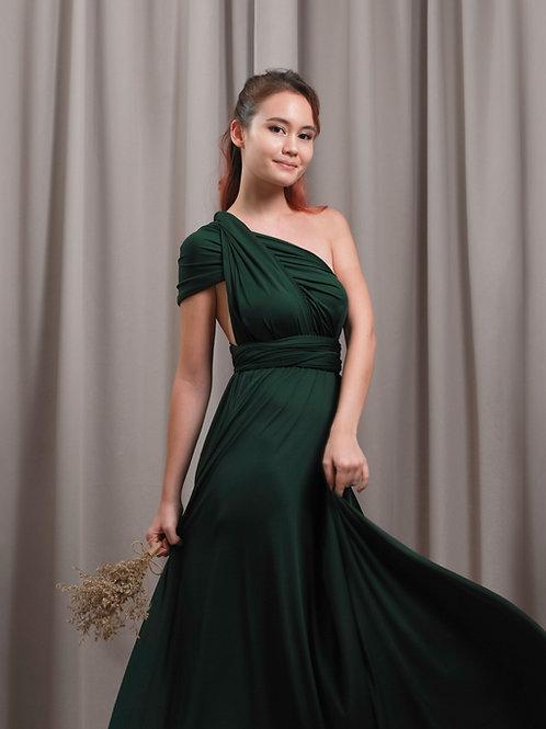 Convertible Dress - Hunter Green