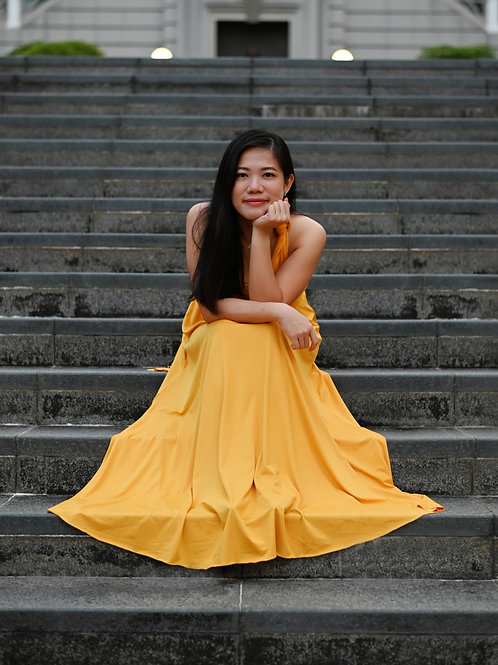 Convertible Dress - Marigold Yellow