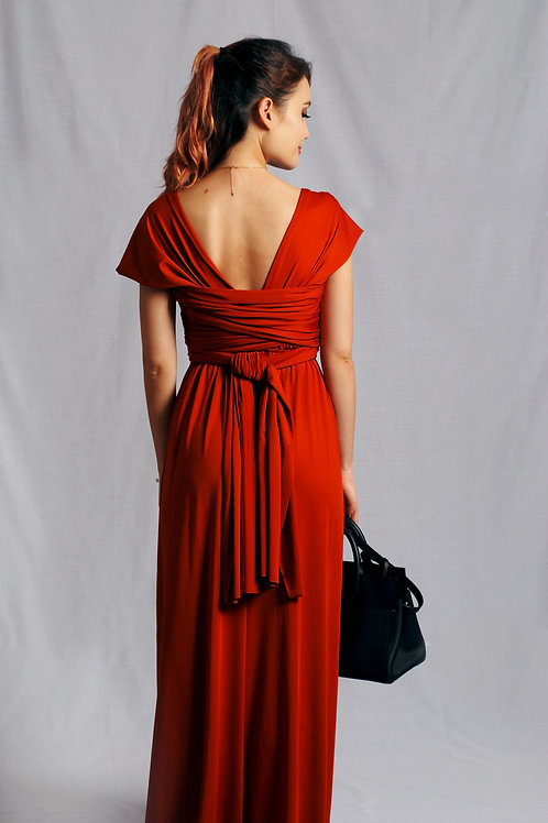 Convertible Dress - Burnt Orange (Terracotta)