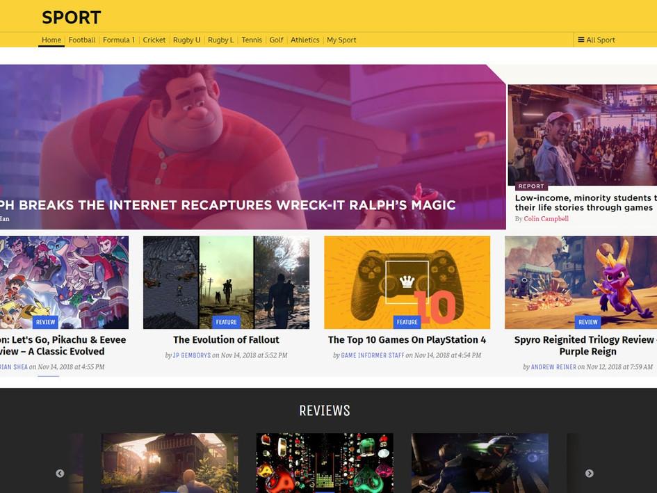 Game Journalist Webpage Design Part 2 - Collaging