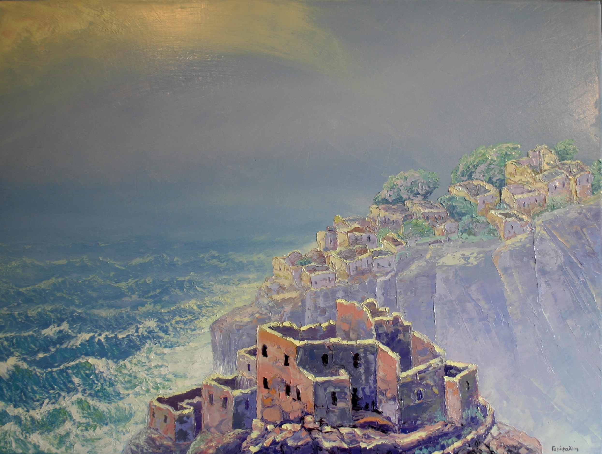 Φουρτούνα στους ερειπιώνες, Ελαιογραφία