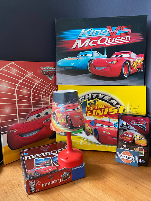 LOT DECO + JEUX CARS