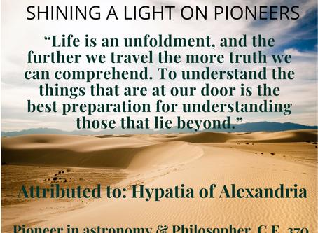 SHINING THE LIGHT ON HYPATIA OF ALEXANDRIA