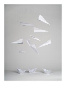 Paper Plane Still Life