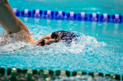 Sports photograph of a swimmer