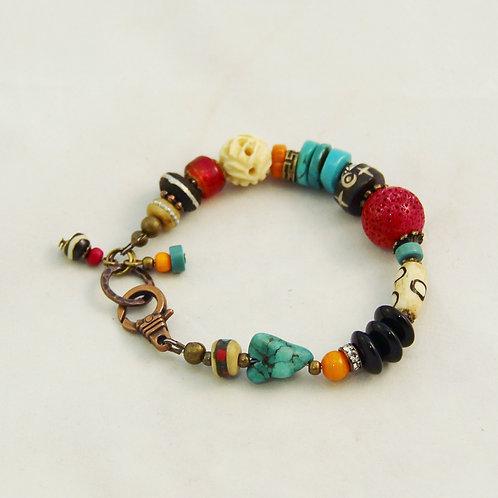 Handcrafted Colorful Southwest Boho Yoga Bracelet #1