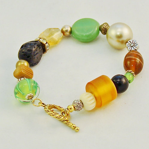 Autumn Color Gold Bracelet