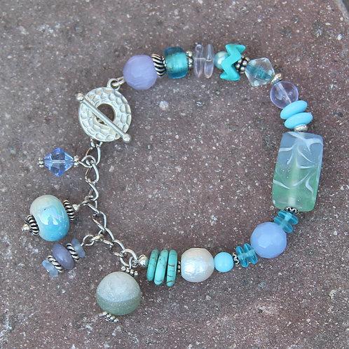 Ocean Colors Mixed Media Bracelet