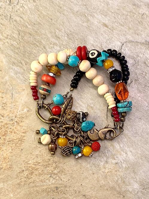 Colorful Handcrafted Southwest Bracelet