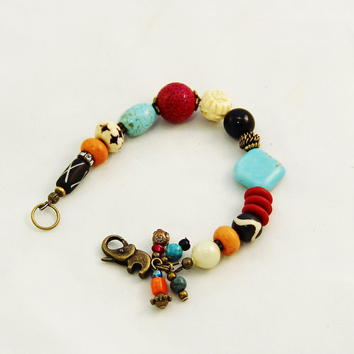 Boho Ethnic Multicolor Bracelet