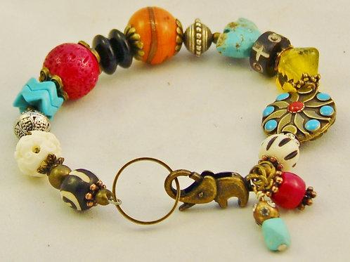 Handcrafted Southwest Colorful Bracelet
