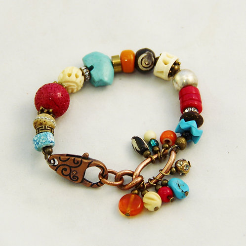 Handcrafted Colorful Southwest Boho Yoga Bracelet #2