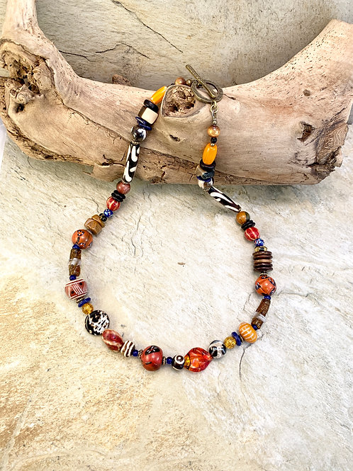 Handcrafted Colorful Boho Chunky Statement Necklace
