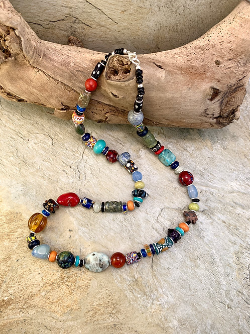 Colorful Handcrafted Tribal Southwest Statement Necklace