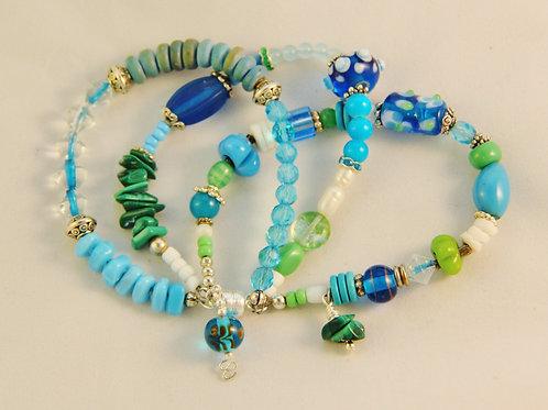 Aqua Blue Green Bracelet