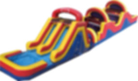 74' Double Trouble Event Obstacle Course Rental