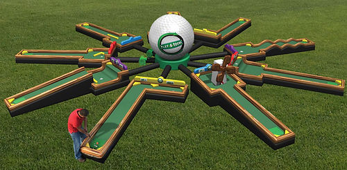 Inflatable Golf Game Rental