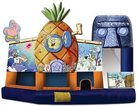 Corporate Event Spongebob Inflatable Slide Rental
