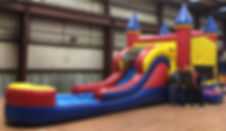 Inflatable Bouncer Combo Water Slide Rental